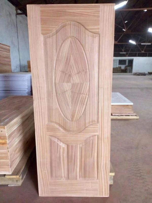 Swing Open Sapele MDF Door Skin Panel For Exterior Wood Doors 2-4mm Thickness
