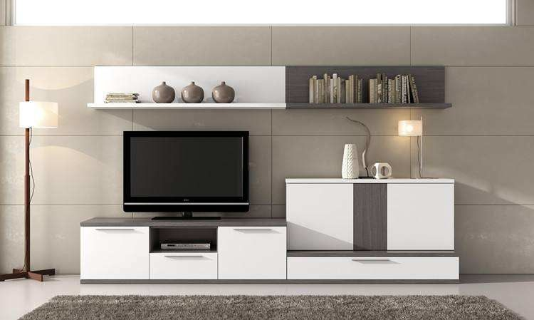 Pre Finished White Particle Board TV Stand With Large Capacity Sliding Drawers