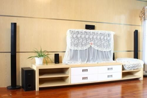 Different Kinds Of Particle Board TV Stand Melamine Paper Coated Panels 16mm
